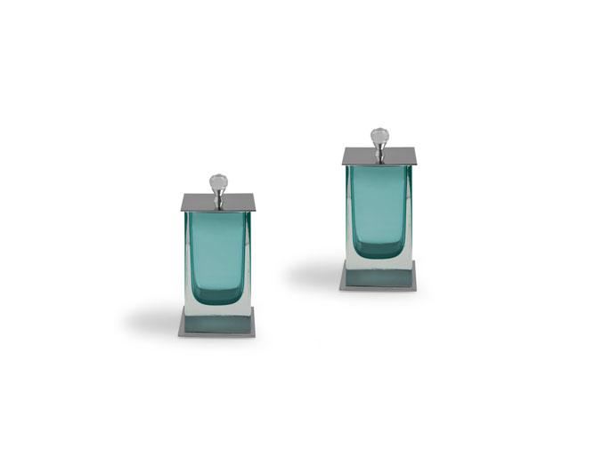 Porta alg/ cot Murano quadrado puxador diamante