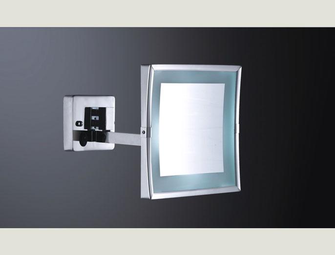 Espelho Quadrado com luz parede